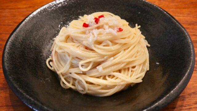 魚醤ペペロンチーノ