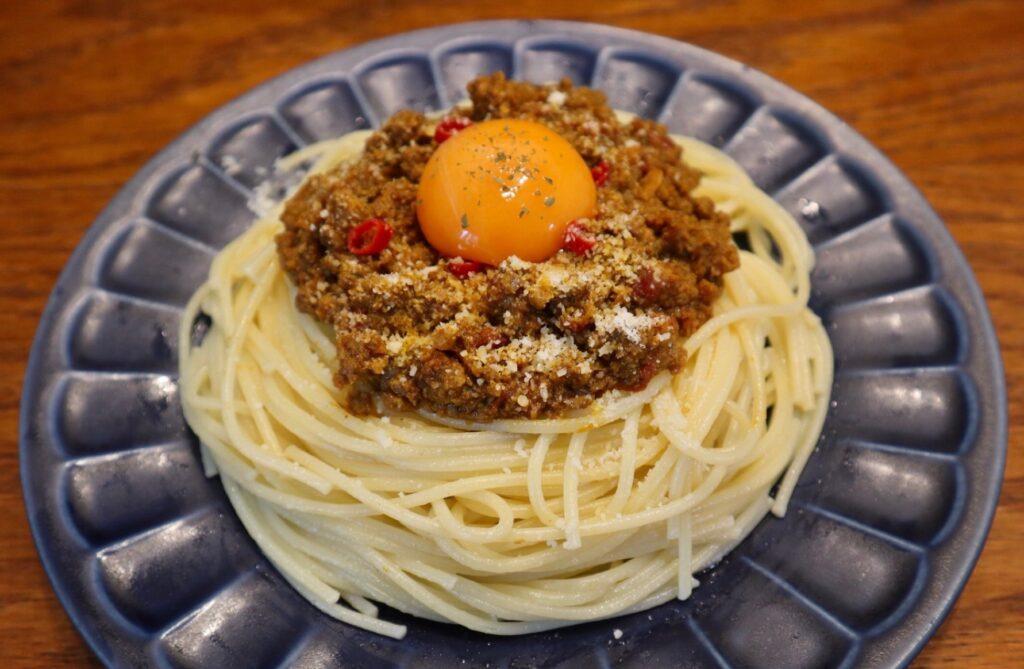 キーマカレースパゲッティ